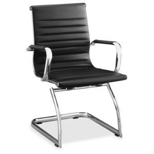 Lorell Modern Chair with Chrome Sled Base
