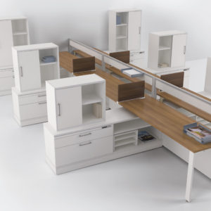 Air Workstations with Built In Electrical