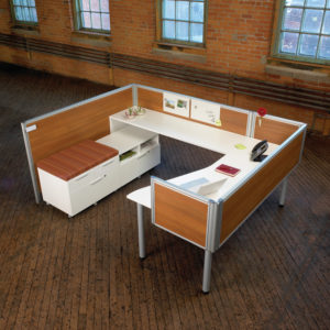 Layered Workstation with Nano Privacy Panels