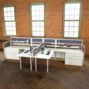 L-Shaped Workstations to Promote Collaboration
