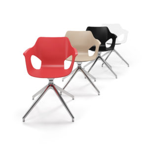Ole Guest Chair with Pyramid Swivel Base