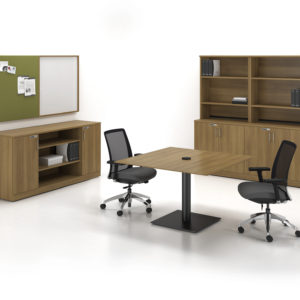 Meeting Table with Markerboard and Tackboard